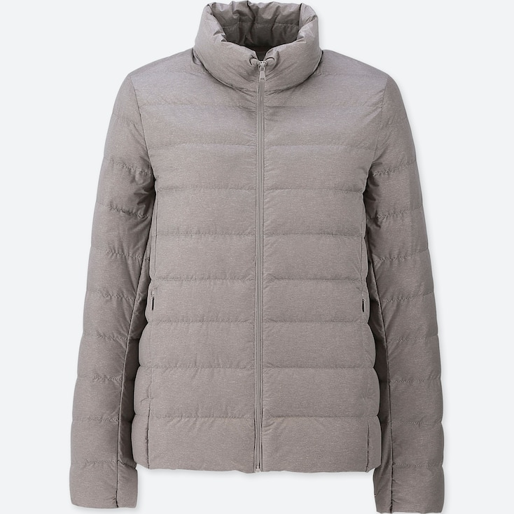 Women Ultra Light Down Jacket, Gray, Large