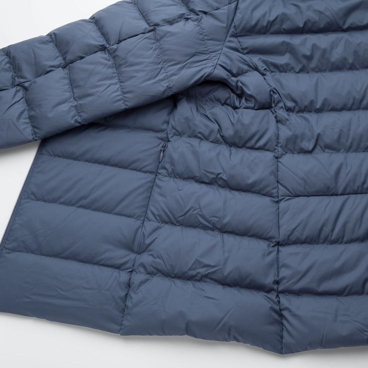 Women Ultra Light Down Jacket, Navy, Large