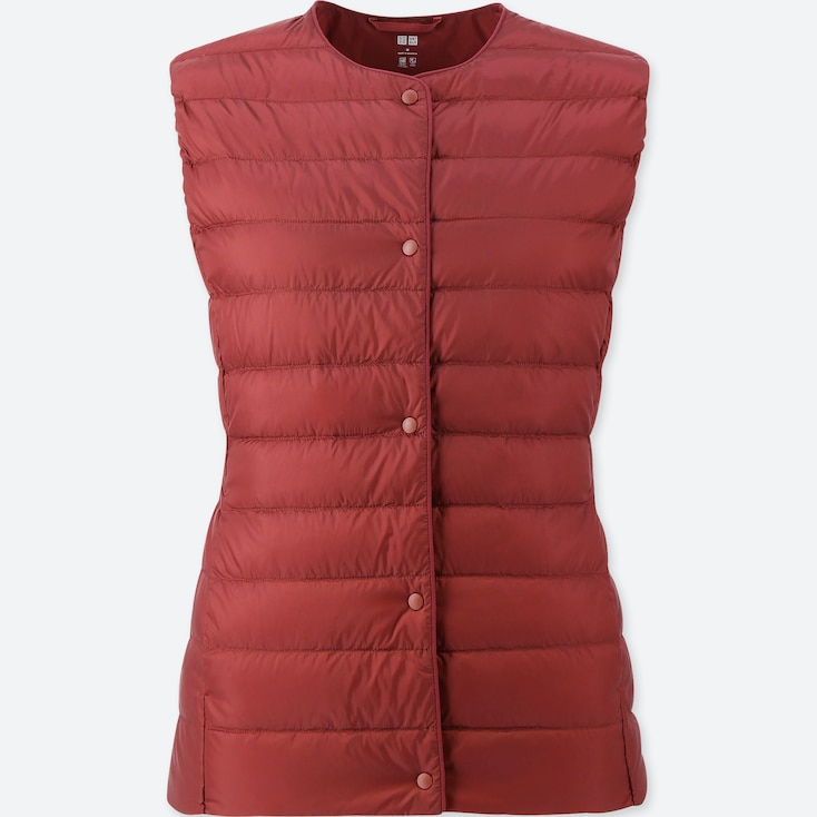 Women Ultra Light Down Compact Vest, Red, Large