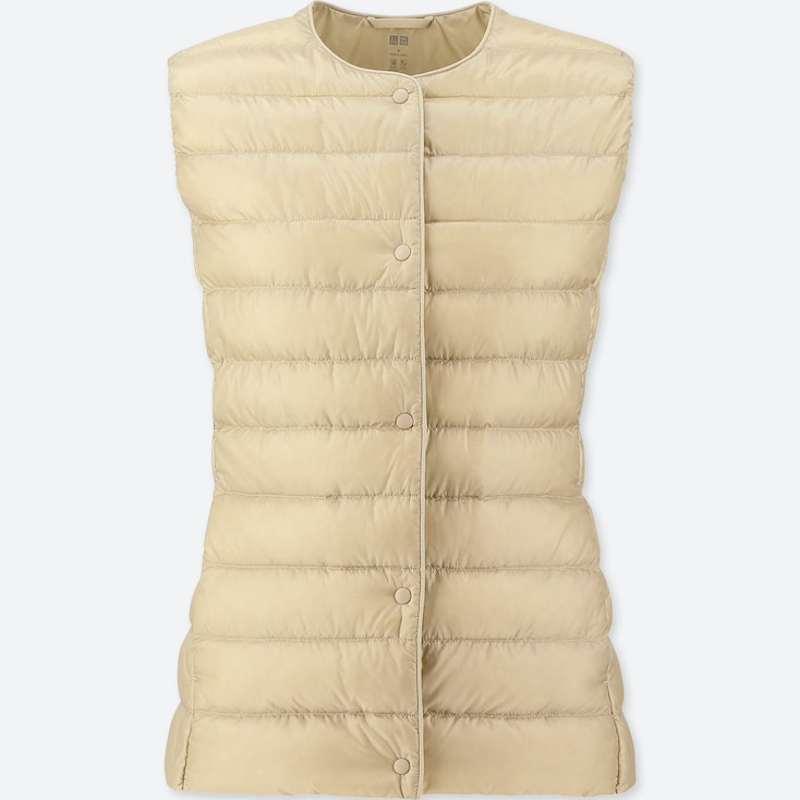 WOMEN ULTRA LIGHT DOWN COMPACT VEST, NATURAL, large