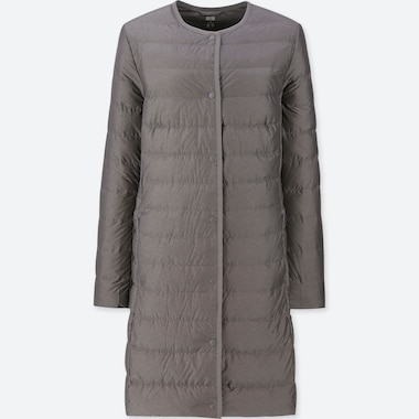 WOMEN ULTRA LIGHT DOWN COMPACT COAT, GRAY, medium