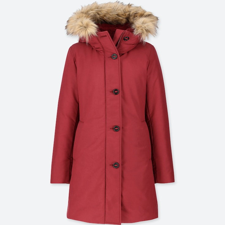 Women Ultra Warm Down Short Coat, Red, Large