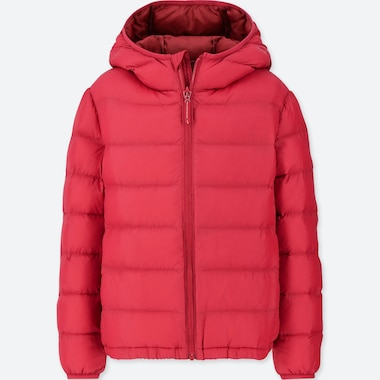 KIDS LIGHT WARM PADDED PARKA, RED, medium