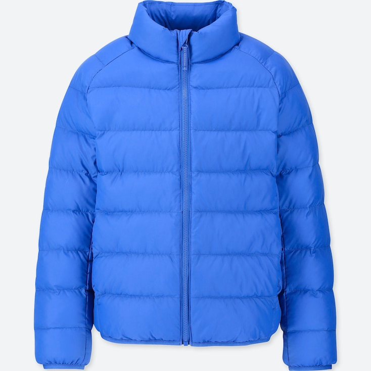 Kids Light Warm Padded Jacket, Blue, Large