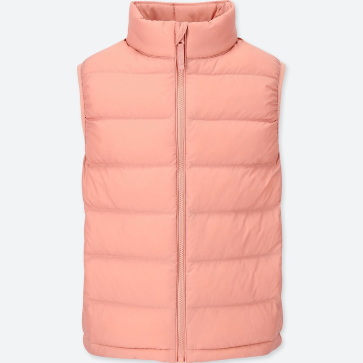 KIDS LIGHT WARM PADDED VEST, PINK, large