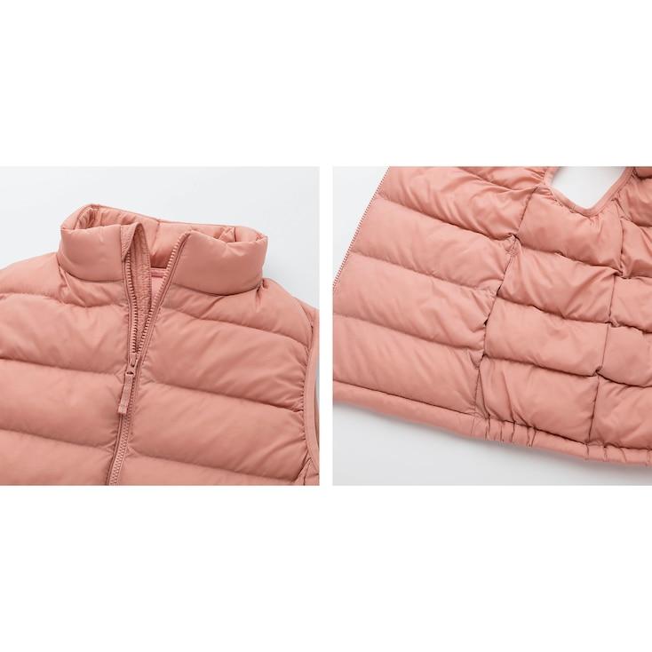 Kids Light Warm Padded Vest, Pink, Large