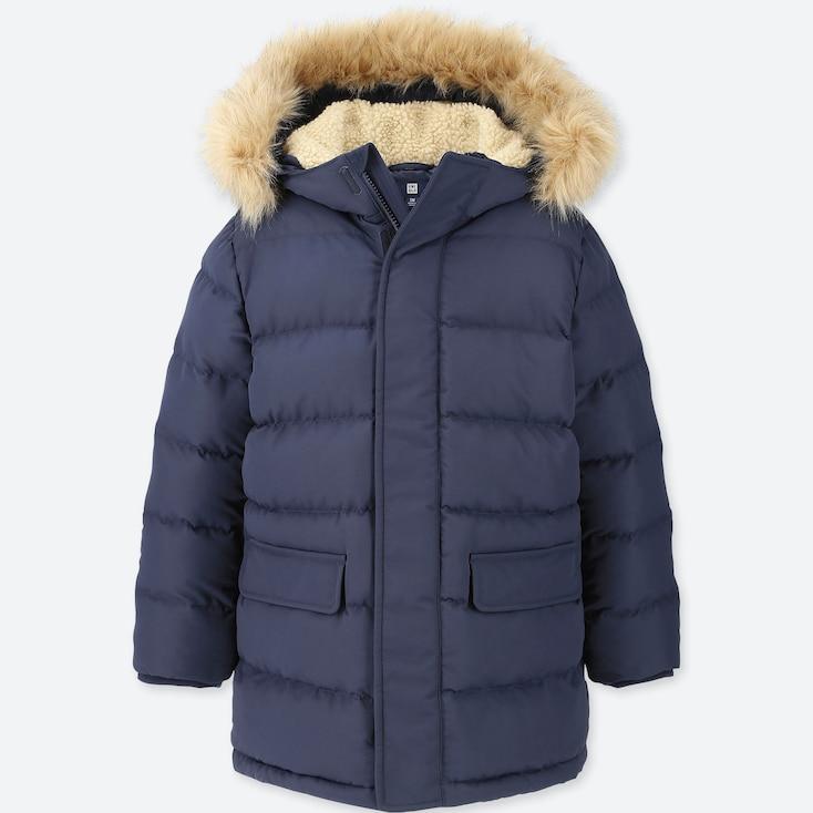 BOYS WARM PADDED COAT, NAVY, large