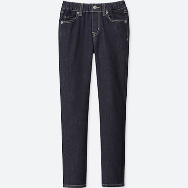 KIDS ULTRA STRETCH DENIM RELAXED PANTS, BLUE, medium