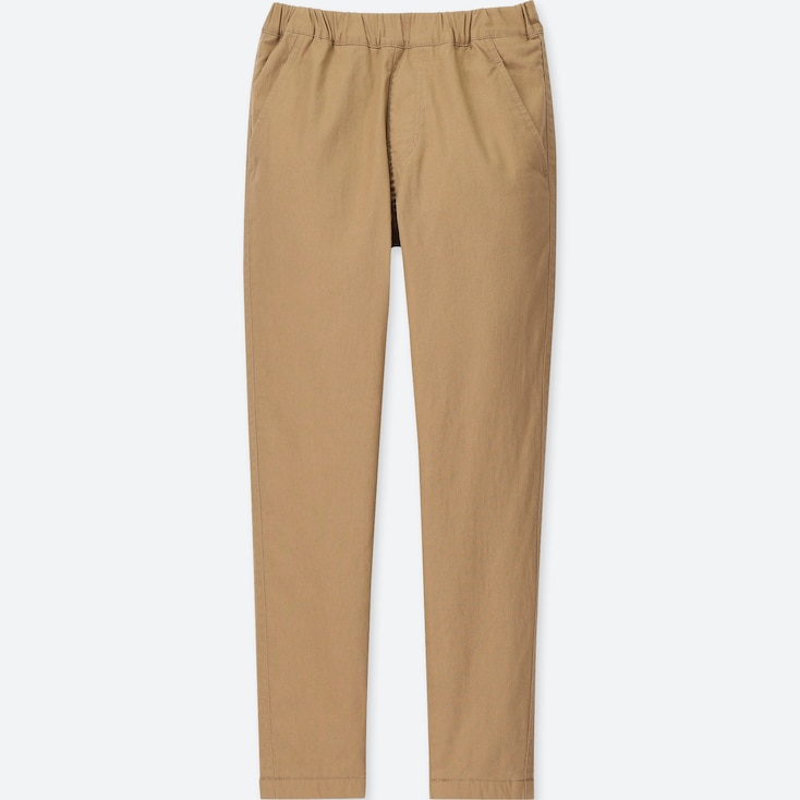 KIDS STRETCH WARM-LINED PANTS, BEIGE, large
