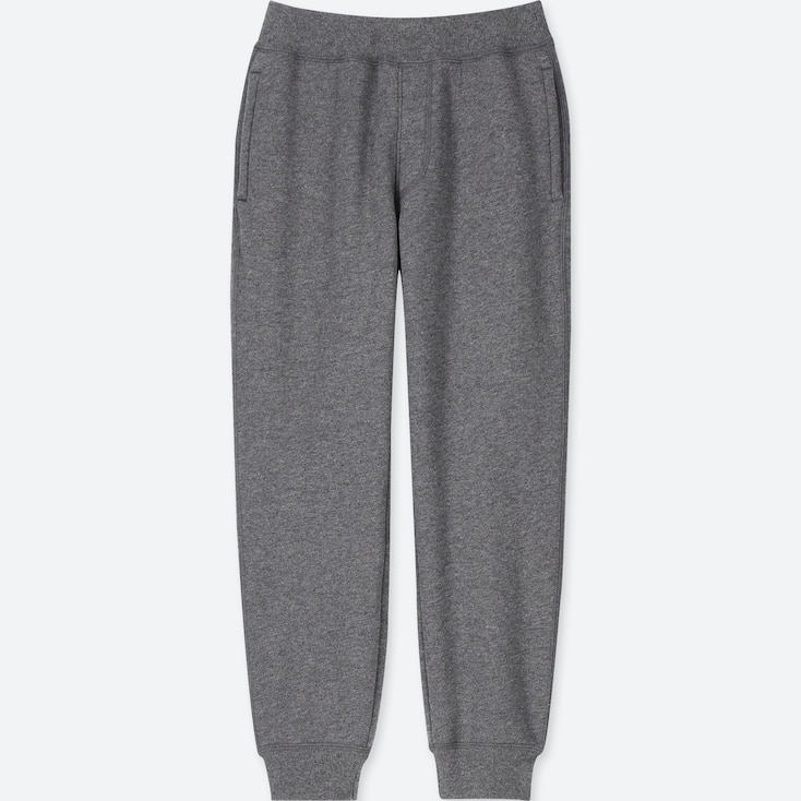 KIDS PILE-LINED SWEATPANTS, DARK GRAY, large