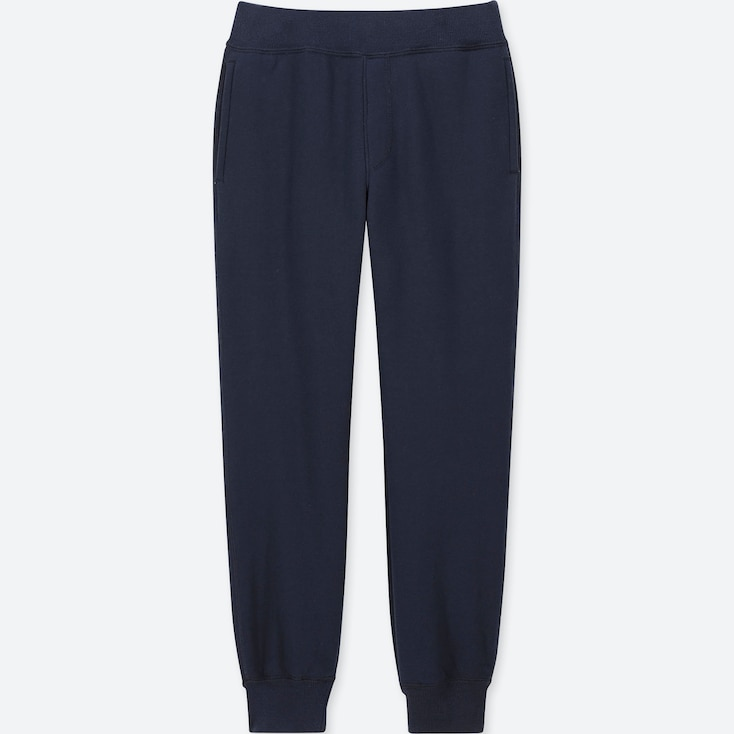 KIDS PILE-LINED SWEATPANTS, NAVY, large