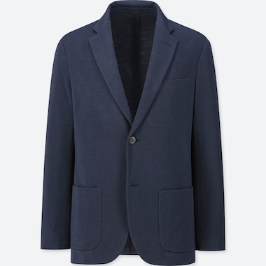 Men Comfort Jacket, Navy, Medium