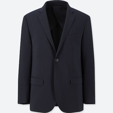 Men Custom Stretch Wool Slim-Fit Jacket (Online Exclusive), Navy, Medium