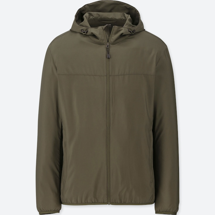 MEN POCKETABLE PARKA, OLIVE, large