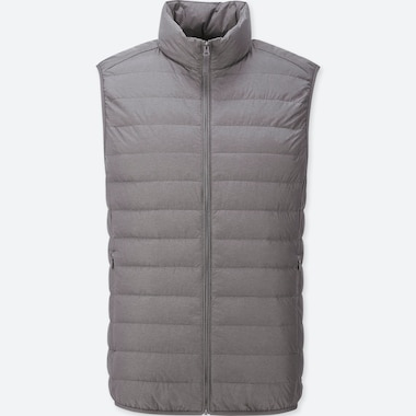 MEN ULTRA LIGHT DOWN VEST, DARK GRAY, medium