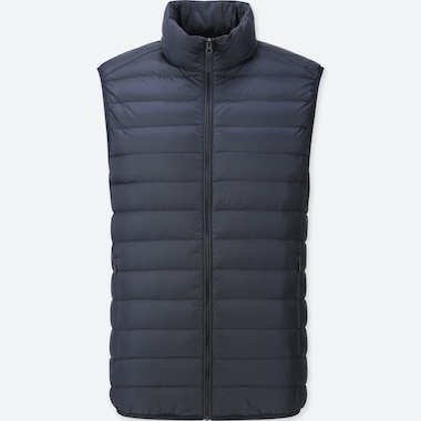 Men Ultra Light Down Vest, Navy, Medium