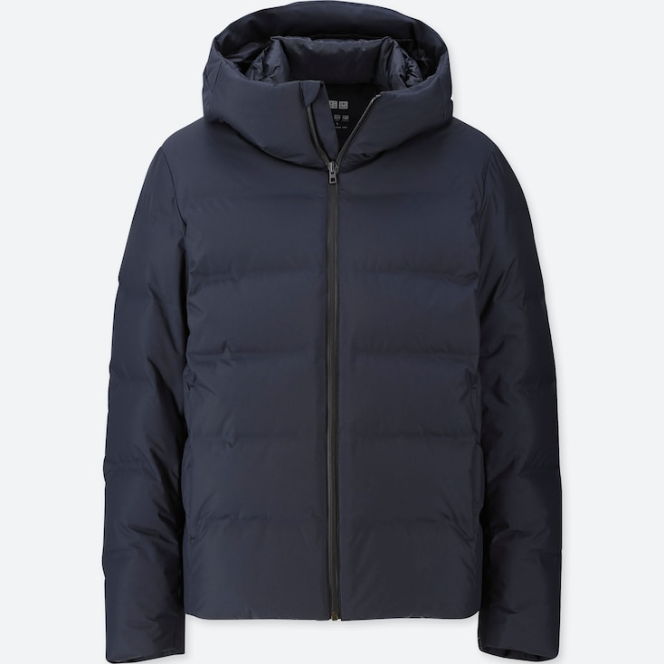 MEN SEAMLESS DOWN PARKA, NAVY, large