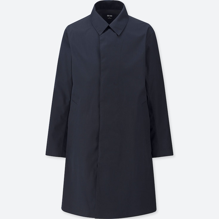 MEN BLOCKTECH CONVERTIBLE COLLAR COAT, NAVY, large