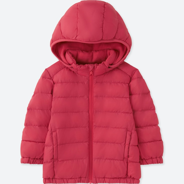 TODDLER LIGHT WARM PADDED FULL-ZIP PARKA, RED, large