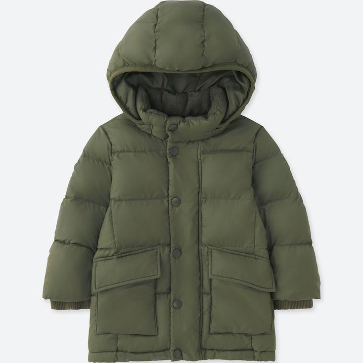TODDLER WARM PADDED COAT, OLIVE, large