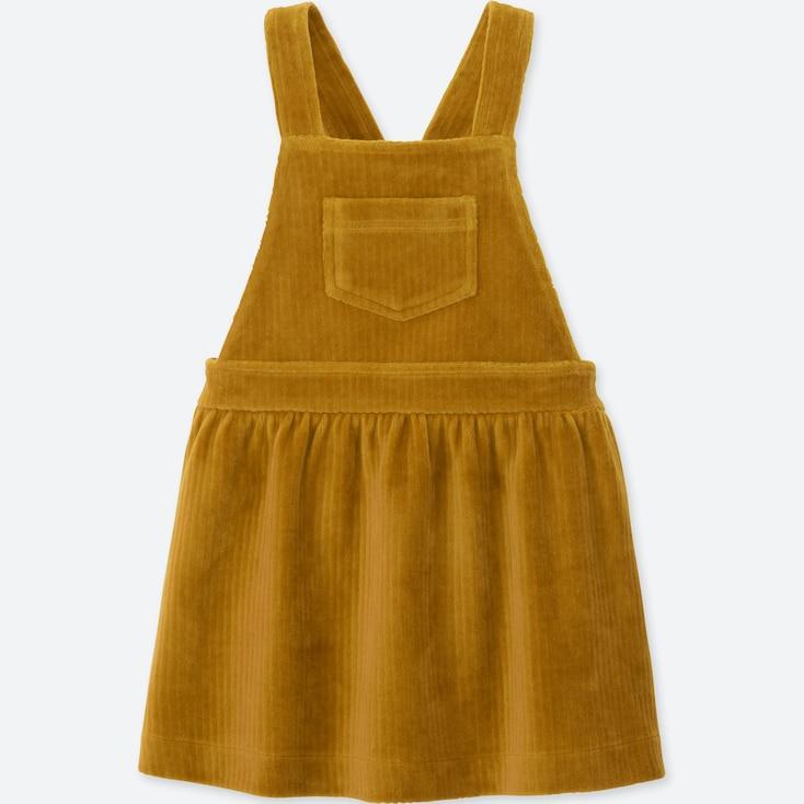 TODDLER LONG-SLEEVE JUMPER DRESS, YELLOW, large