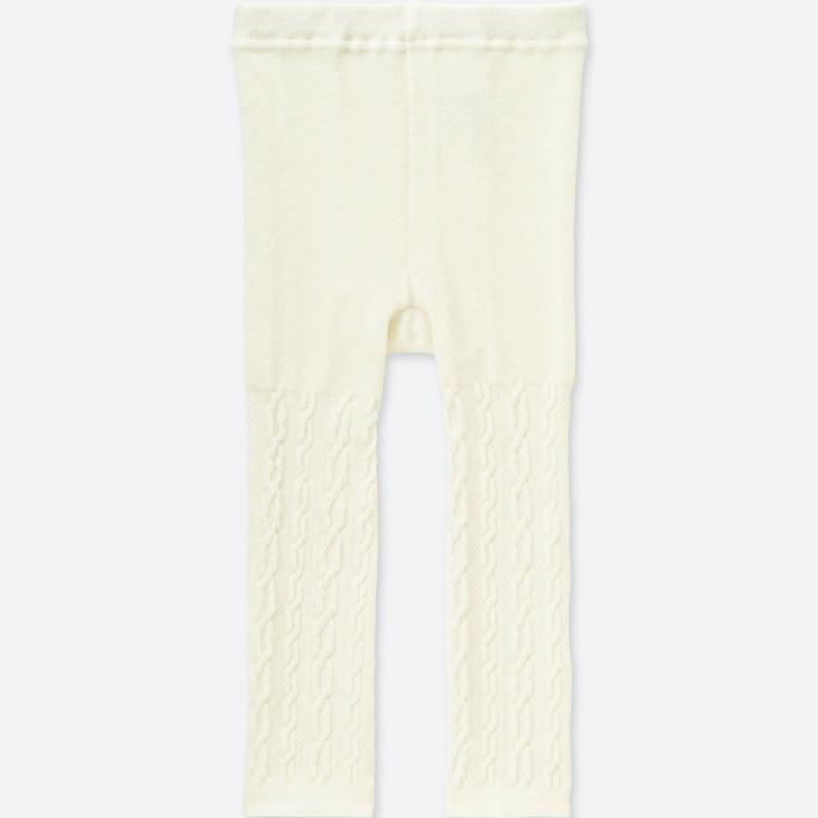 TODDLER KNITTED LEGGINGS, OFF WHITE, large