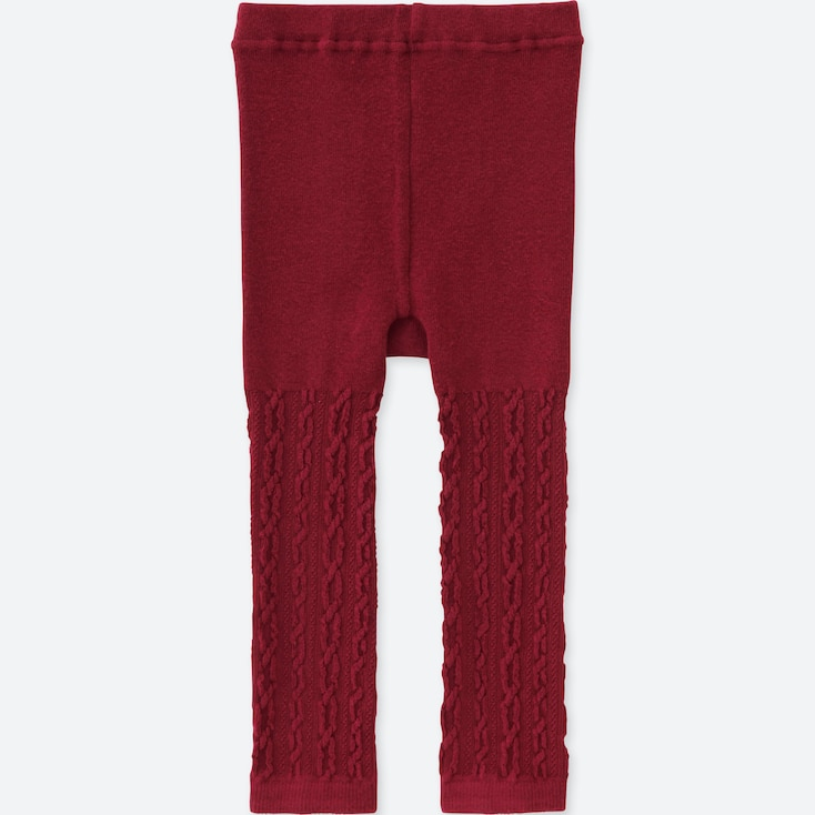 TODDLER KNITTED LEGGINGS, RED, large