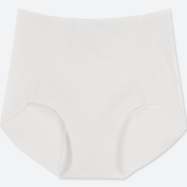 WOMEN AIRism ULTRA SEAMLESS HIGH-RISE BRIEF SHORTS, WHITE, medium