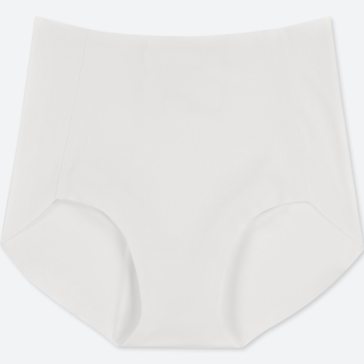 WOMEN AIRism ULTRA SEAMLESS HIGH-RISE BRIEF SHORTS, WHITE, large