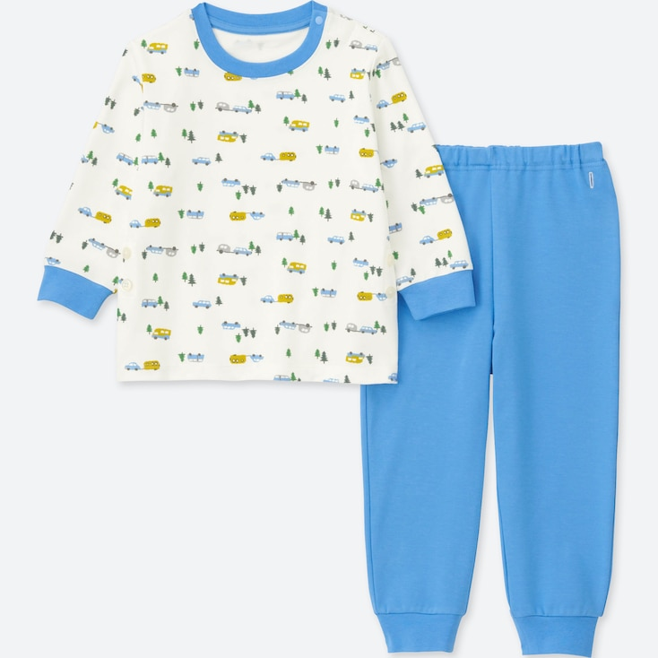 TODDLER LONG-SLEEVE PAJAMAS, BLUE, large