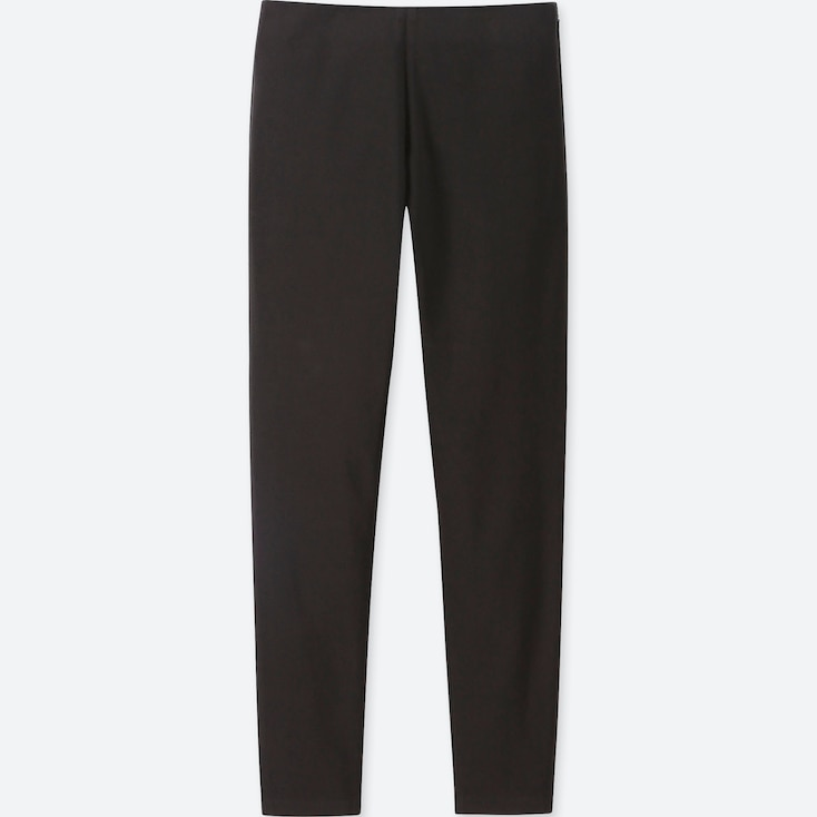 WOMEN SMART ANKLE LEGGINGS PANTS, BLACK, large