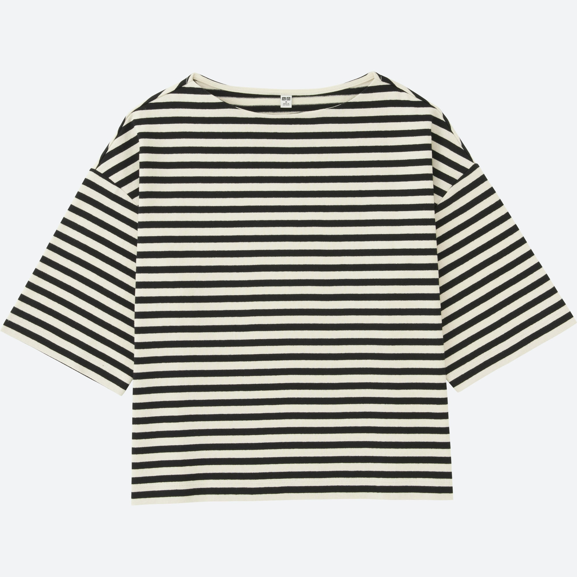 Women Striped Wide 3 4 Sleeve T Shirt Uniqlo Us