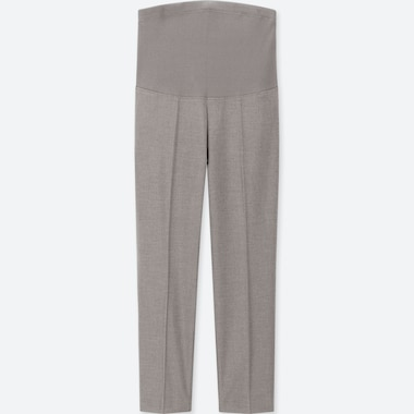 WOMEN MATERNITY EZY ANKLE-LENGTH PANTS, GRAY, medium