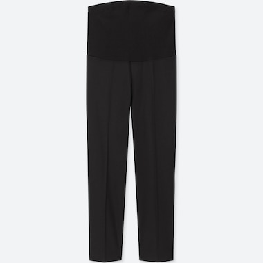 WOMEN MATERNITY EZY ANKLE-LENGTH PANTS, BLACK, medium