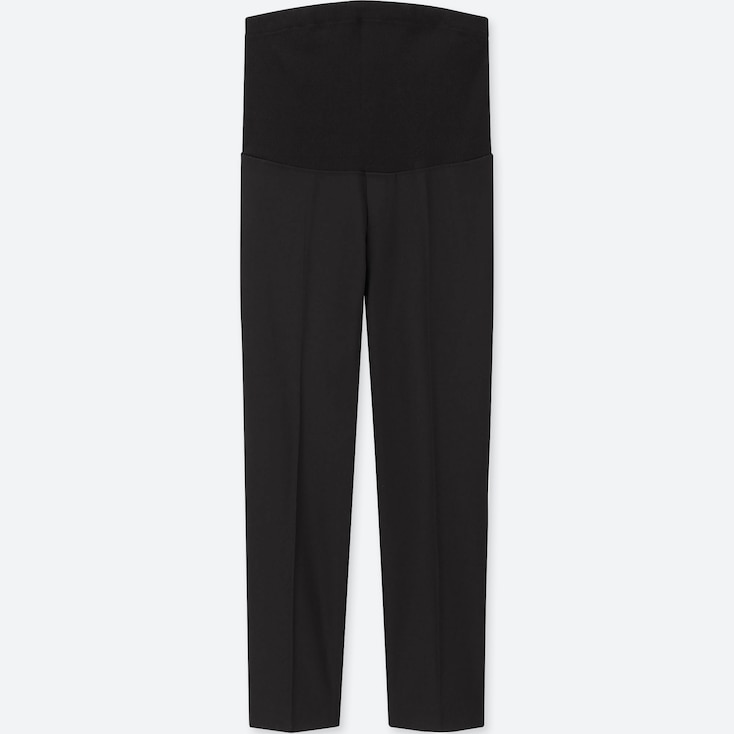 WOMEN MATERNITY EZY ANKLE-LENGTH PANTS, BLACK, large