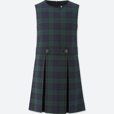 GIRLS CHECKED JUMPER SKIRT