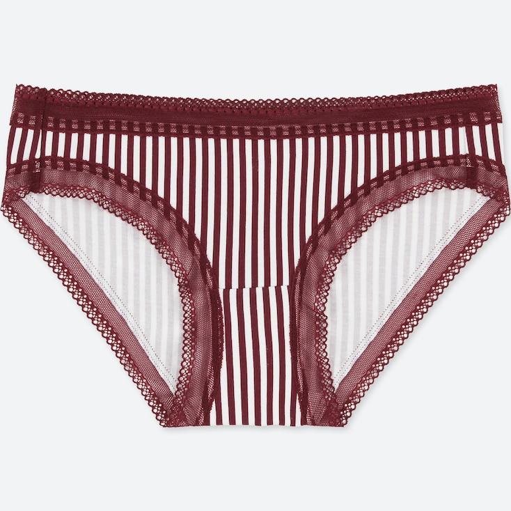 Women Striped Bikini, Red, Large