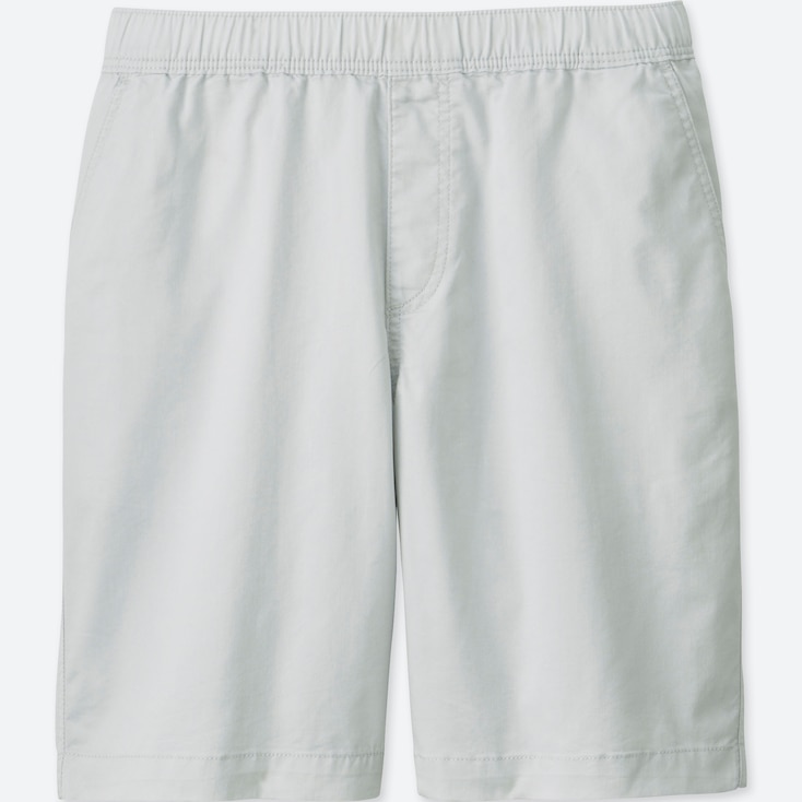 MEN DRY STRETCH WOVEN EASY SHORTS, LIGHT GRAY, large
