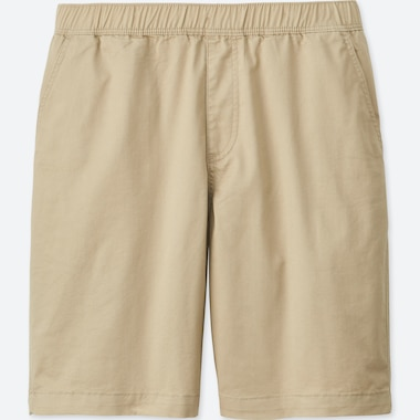 MEN DRY STRETCH WOVEN EASY SHORTS, BEIGE, medium
