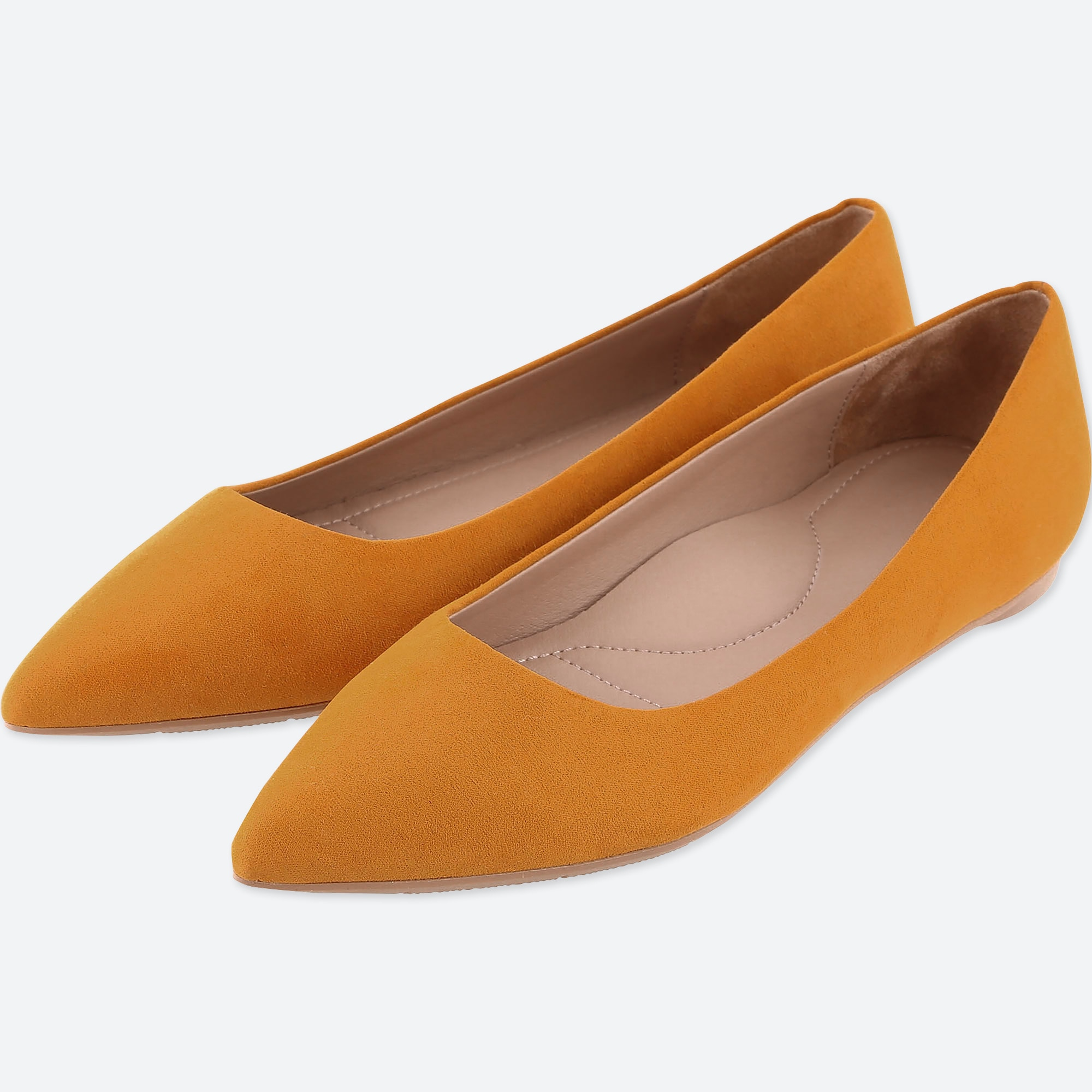 WOMEN POINTED FAUX SUEDE FLAT SHOES