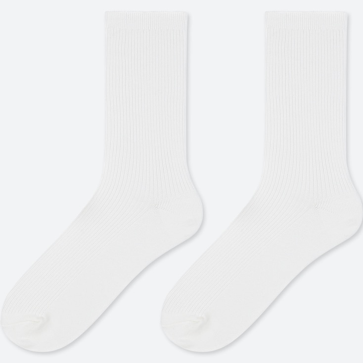 KIDS REGULAR SOCKS (SET OF 2), WHITE, large
