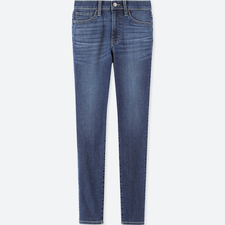 WOMEN HIGH-RISE CIGARETTE JEANS, BLUE, large