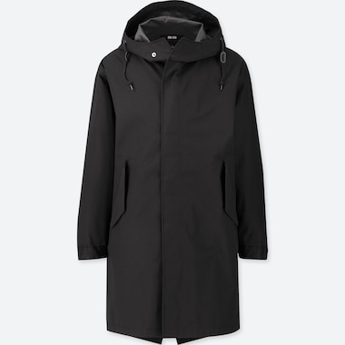 MEN BLOCKTECH HOODED FISHTAIL PARKA