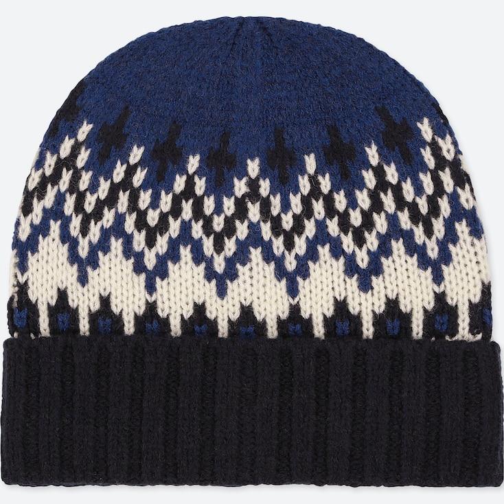 KIDS HEATTECH KNITTED CAP, BLUE, large