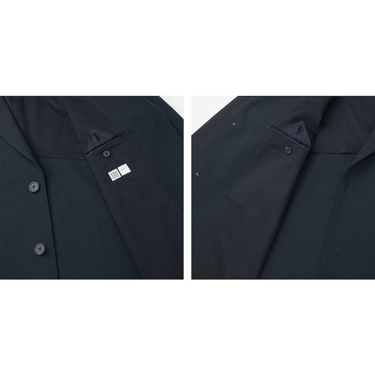 Men U Wool-Blend Chesterfield Coat, Black, Large