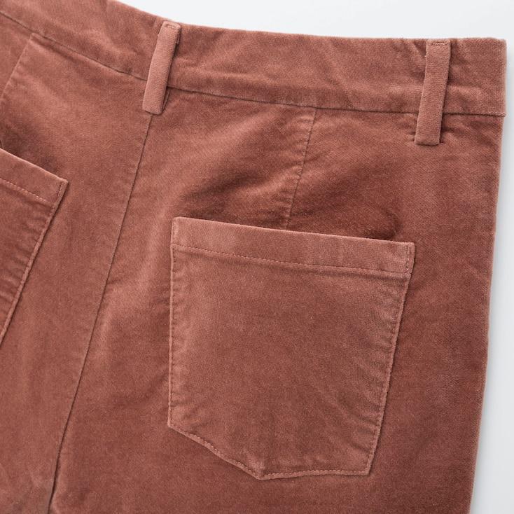 Women Heattech High-Rise Velvet Leggings Pants, Dark Green, Large