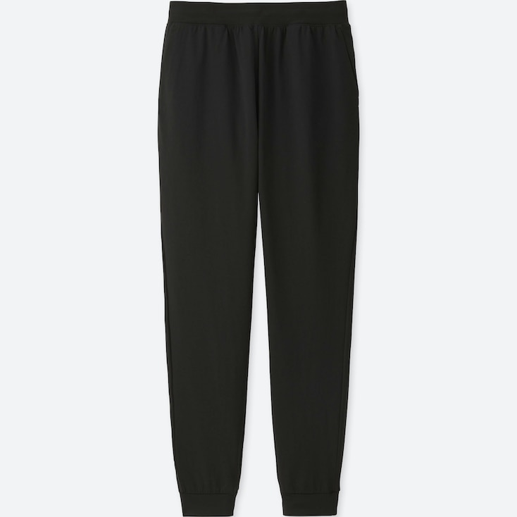 WOMEN DRY-EX ULTRA STRETCH ANKLE-LENGTH PANTS, BLACK, large