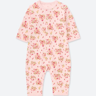 NEWBORN LONG-SLEEVE ONE-PIECE OUTFIT, PINK, medium