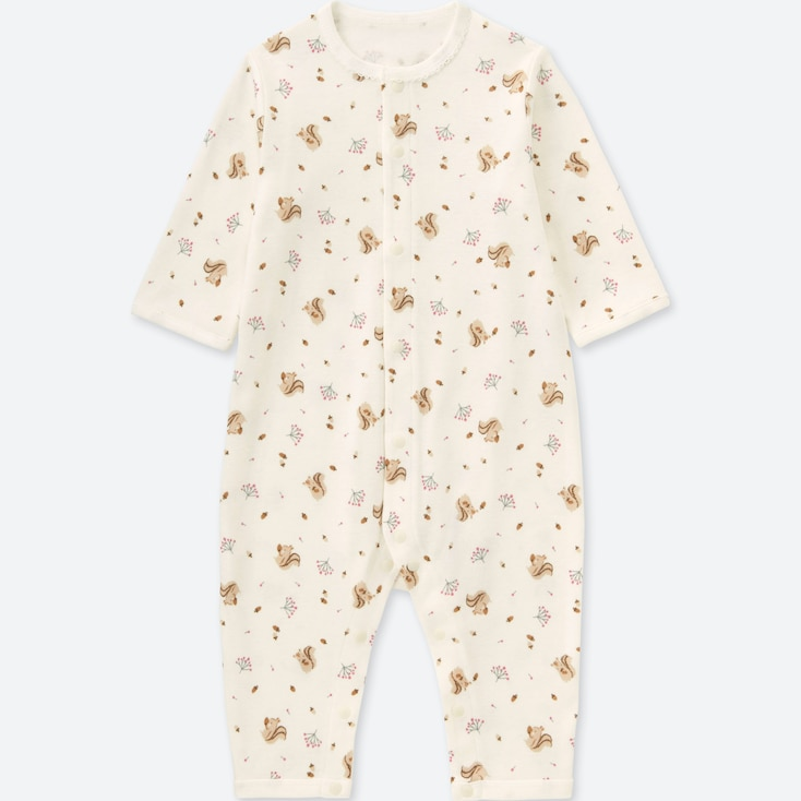 NEWBORN LONG-SLEEVE ONE-PIECE OUTFIT, OFF WHITE, large