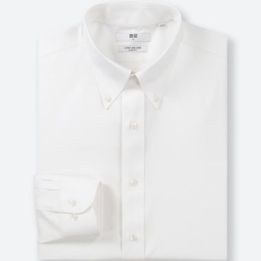 HERREN BÜGELFREIES HEMD (SLIM FIT, BUTTON-DOWN-KRAGEN)